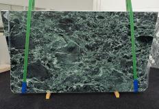 Fornitura lastre grezze lucide 2 cm in marmo naturale VERDE ALPI 1460. Dettaglio immagine fotografie