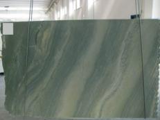Fornitura lastre grezze lucide 2 cm in marmo naturale VERDE LAGUNA SR_060693. Dettaglio immagine fotografie