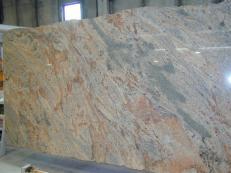 Fornitura lastre grezze lucide 2 cm in granito naturale VYARA CV1-VY25. Dettaglio immagine fotografie