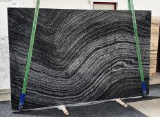 Fornitura lastre grezze lucide 2 cm in marmo naturale Zebra Black 1387. Dettaglio immagine fotografie