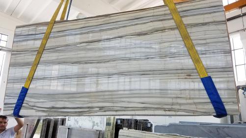Fornitura lastre grezze lucide 2 cm in marmo naturale Zebrino LV0135. Dettaglio immagine fotografie