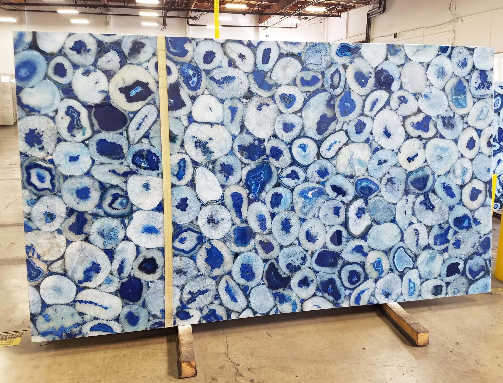 AGATA BLUE Fornitura California (Stati Uniti) di lastre grezze lucide in pietra semipreziosa naturale AG-BL18 , Jumbo size