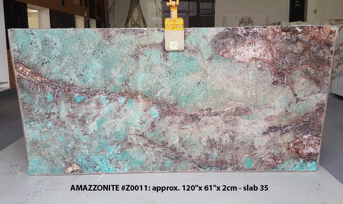 AMAZZONITE Fornitura Veneto (Italia) di lastre grezze lucide in pietra semipreziosa naturale Z0011 , Slab #35