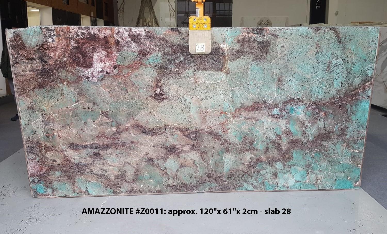 AMAZZONITE Fornitura Verona (Italia) di lastre grezze lucide in pietra semipreziosa naturale Z0011 , Slab #28