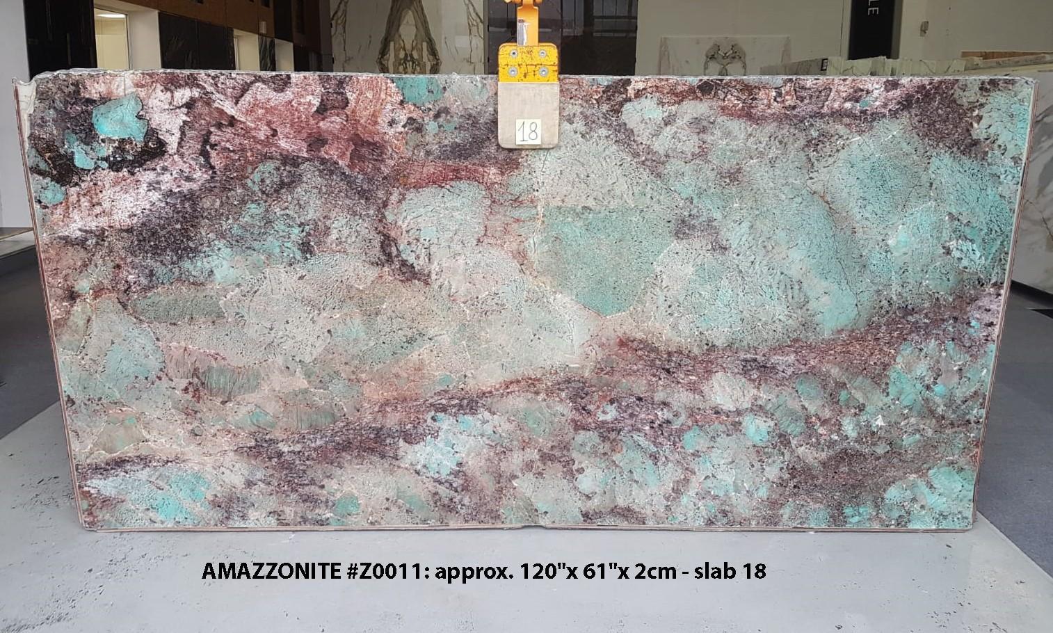AMAZZONITE Fornitura (Italia) di lastre grezze lucide in pietra semipreziosa naturale Z0011 , Slab #18