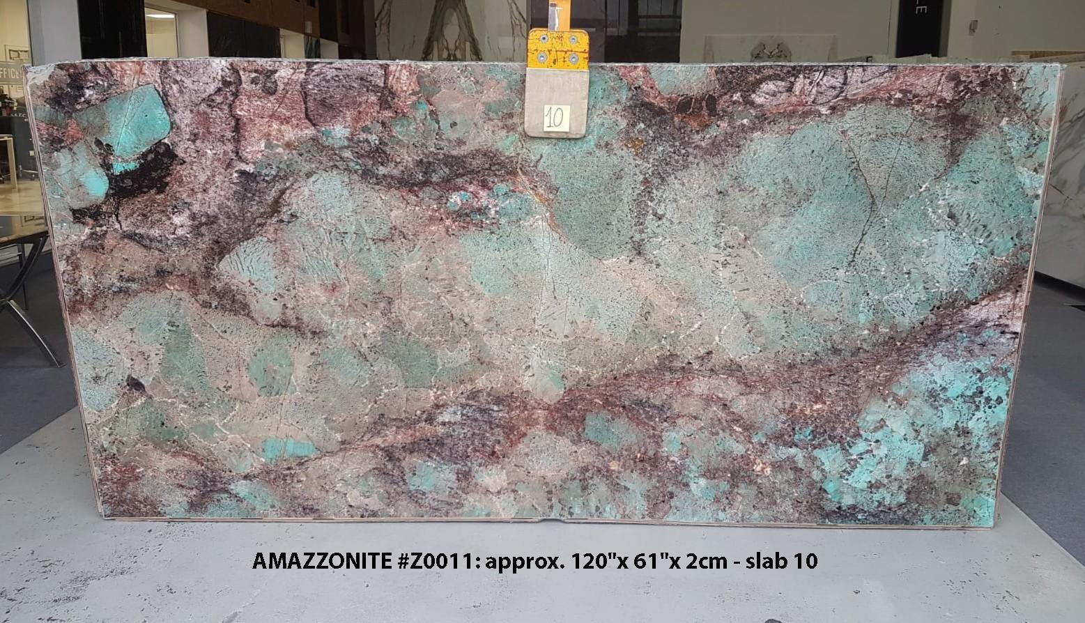 AMAZZONITE Fornitura Veneto (Italia) di lastre grezze lucide in pietra semipreziosa naturale Z0011 , Slab #10