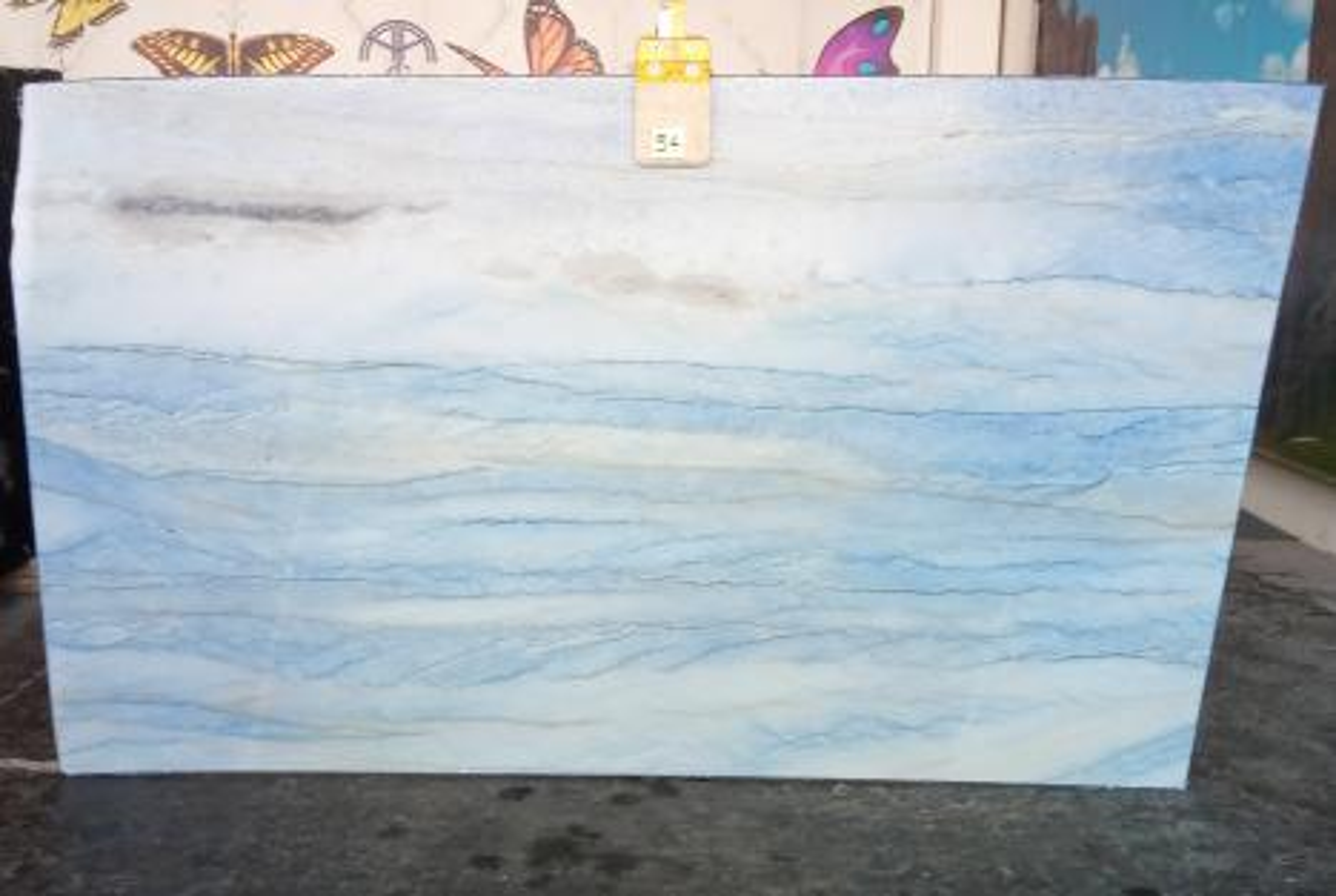AZUL MAKAUBA Fornitura Veneto (Italia) di lastre grezze lucide in marmo naturale Z0191 , Slab #54