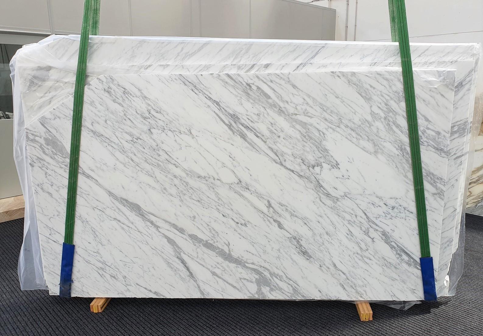 CALACATTA CARRARA Fornitura Veneto (Italia) di lastre grezze levigate in marmo naturale #1370 , Slab #01
