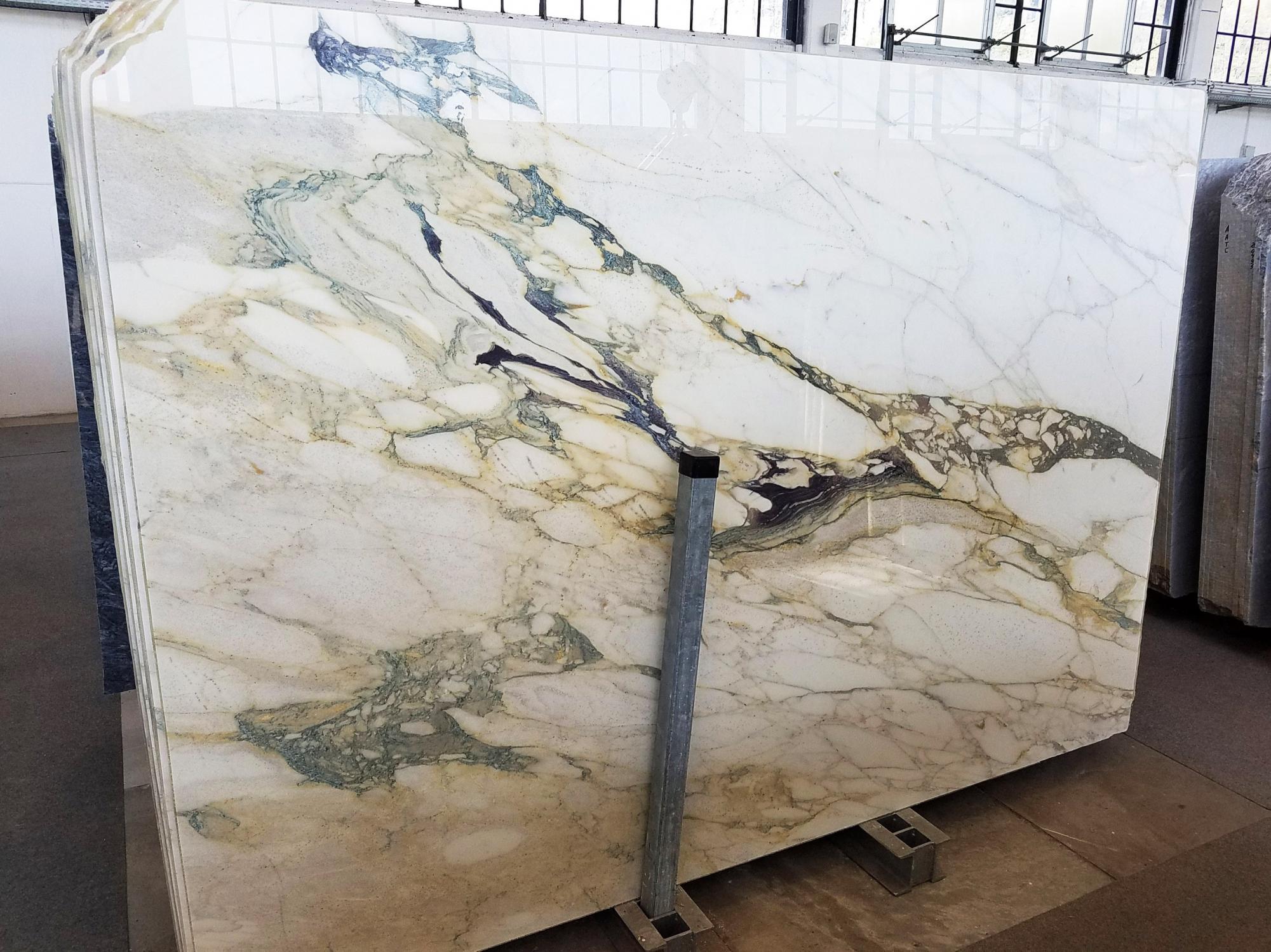 CALACATTA FIORITO Fornitura Veneto (Italia) di lastre grezze lucide in marmo naturale U0433 , Slab #01