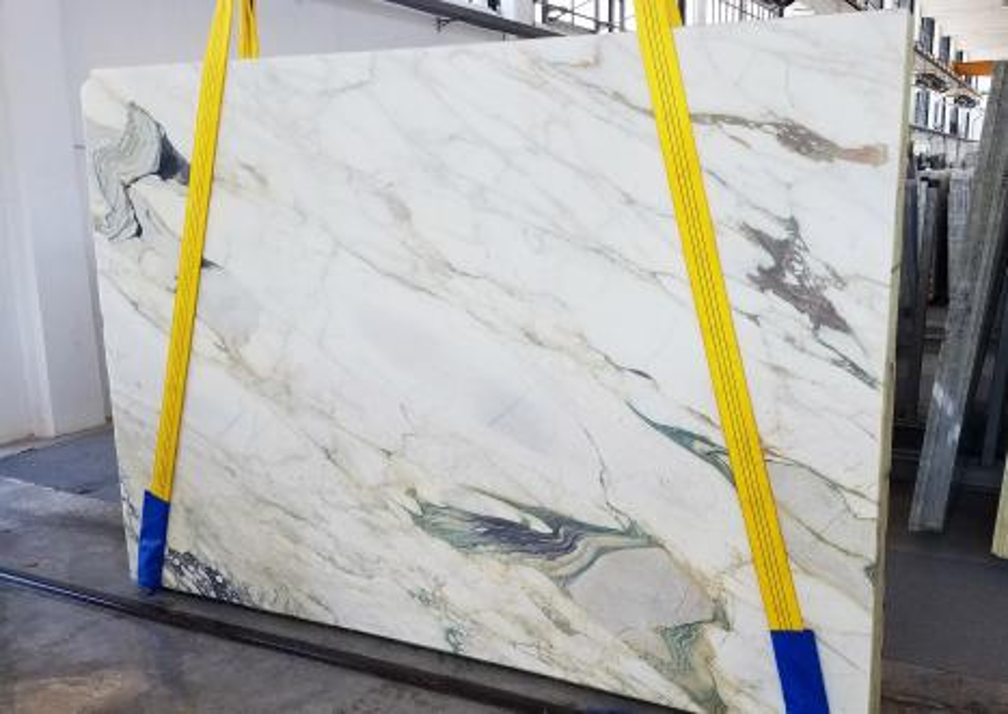 CALACATTA FIORITO Fornitura Veneto (Italia) di lastre grezze segate in marmo naturale U0433 , Slab #18