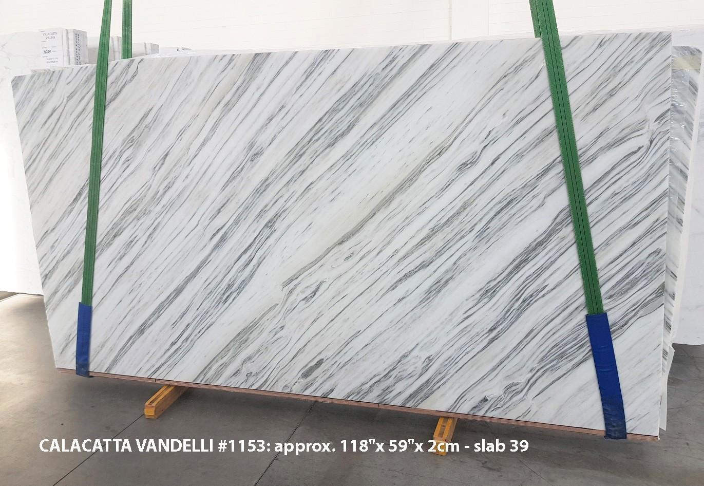 Calacatta Vandelli Fornitura Veneto (Italia) di lastre grezze lucide in marmo naturale 1153 , Slab #39