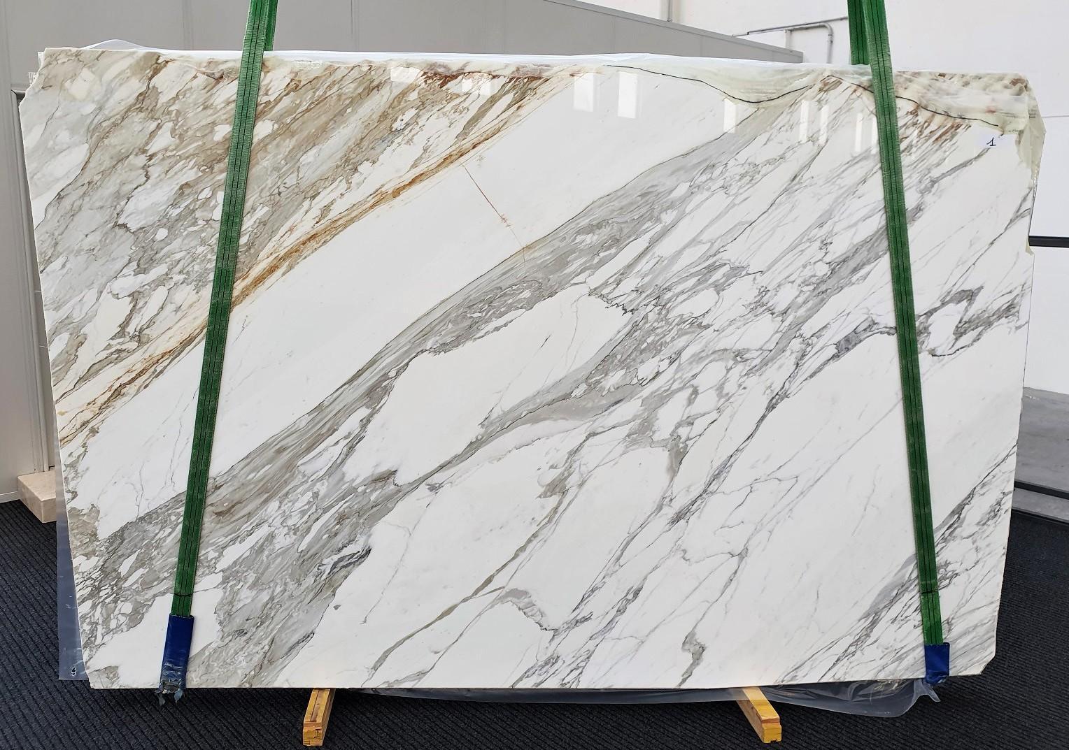 CALACATTA Fornitura Veneto (Italia) di lastre grezze lucide in marmo naturale 1344 , A - slab #01