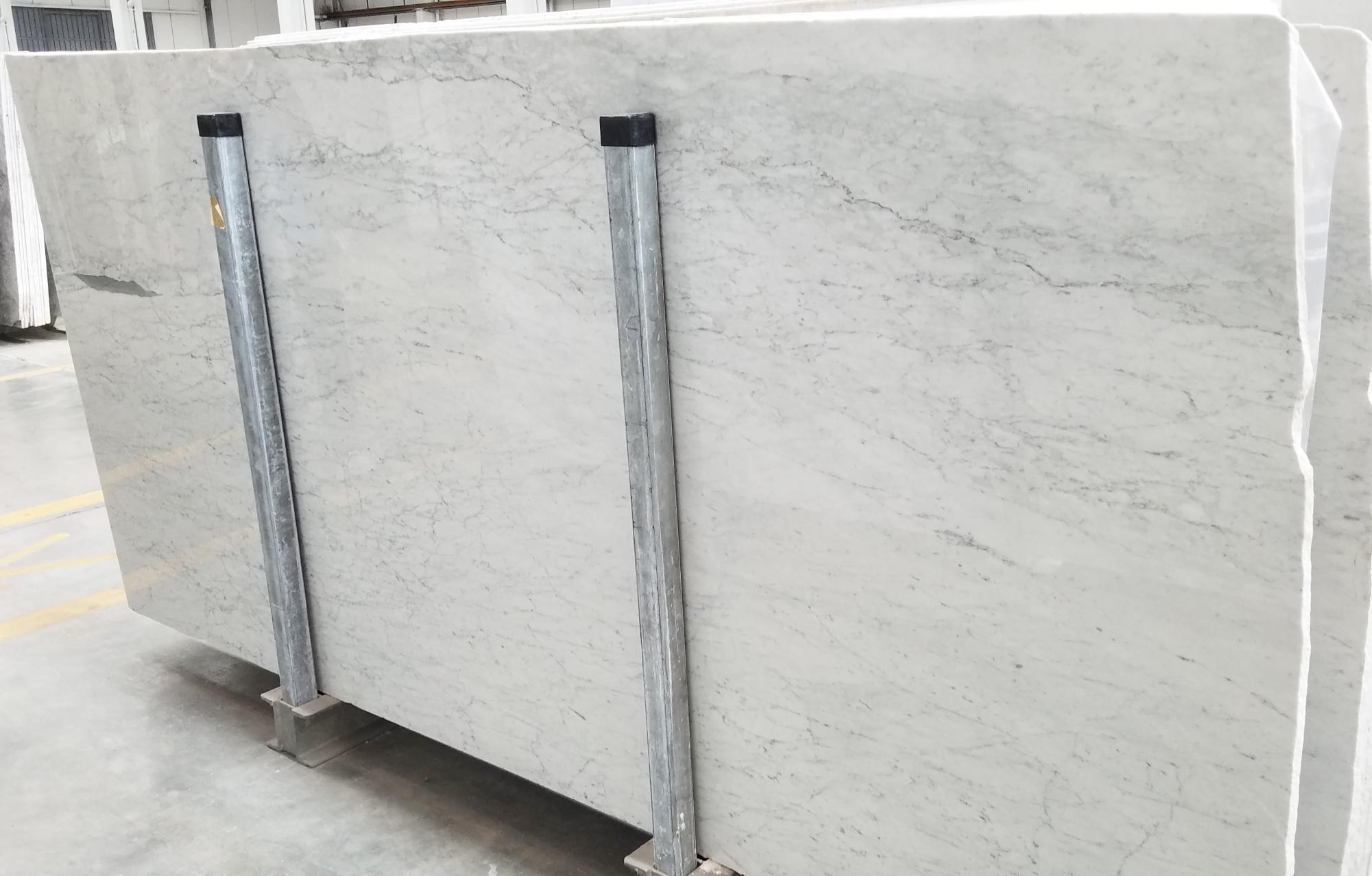 CARRARA Fornitura Veneto (Italia) di lastre grezze lucide in marmo naturale 1548M , Slab #01