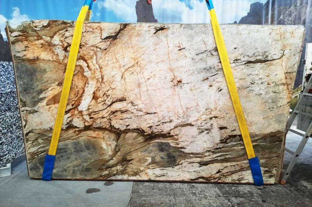 FUSION MISTIC Fornitura Veneto (Italia) di lastre grezze lucide in quarzite naturale U0113 , Slab #01