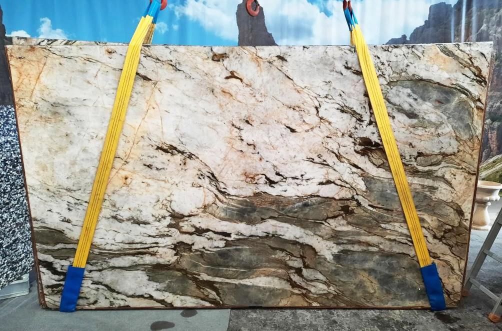 FUSION MISTIC Fornitura Veneto (Italia) di lastre grezze lucide in quarzite naturale U0113 , Slab #26
