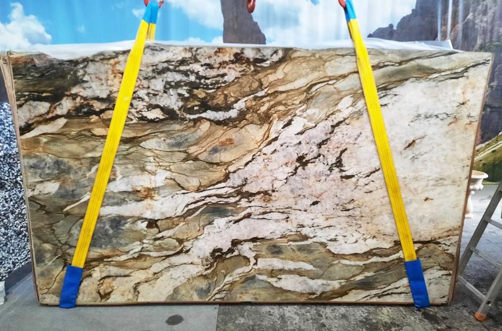 FUSION MISTIC Fornitura Veneto (Italia) di lastre grezze lucide in quarzite naturale U0113 , Slab #47