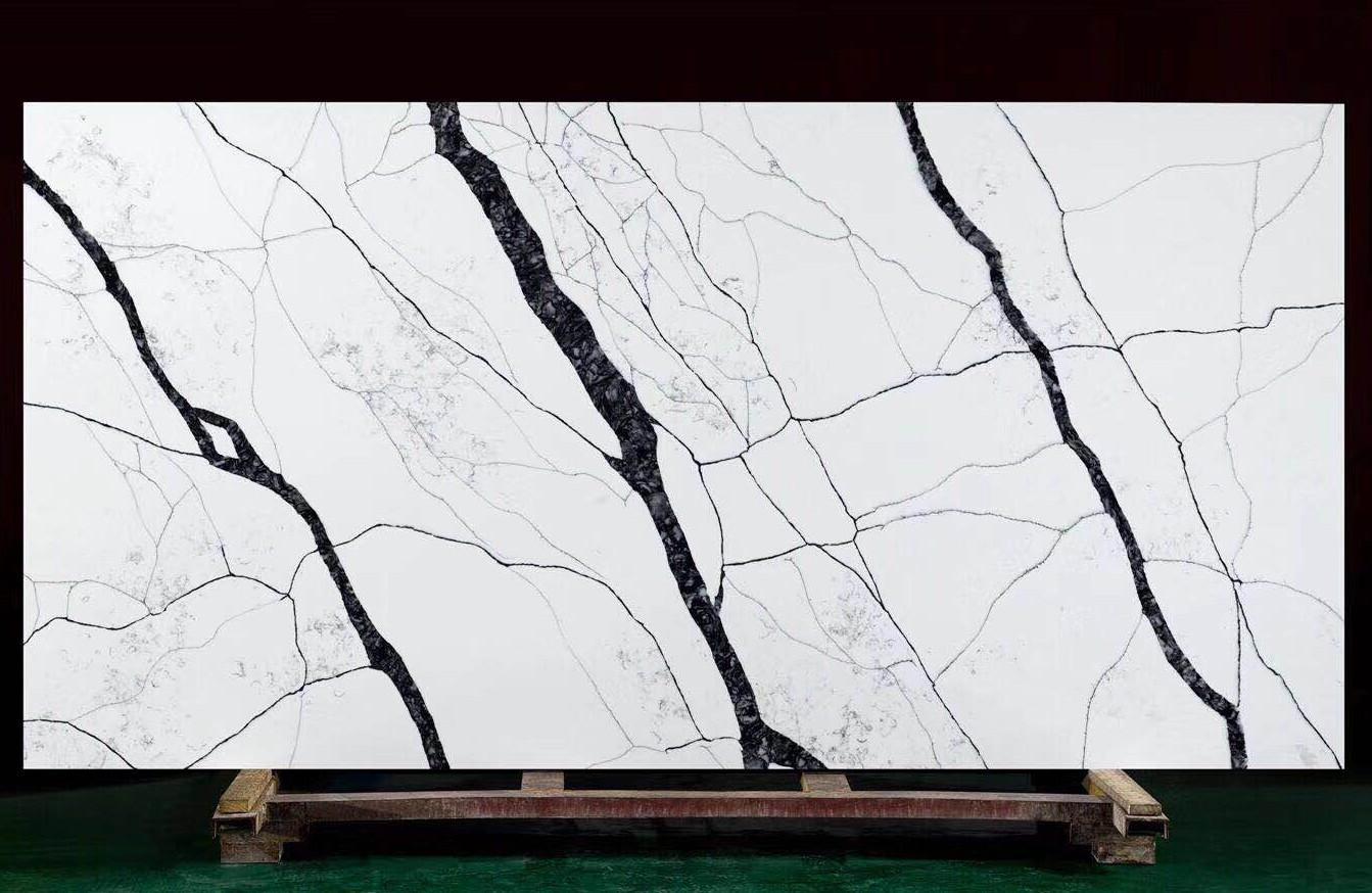 MATERA Fornitura Hai Phong (Vietnam) di lastre grezze lucide in quarzo agglomerato artificiale V7005 , SL3CM