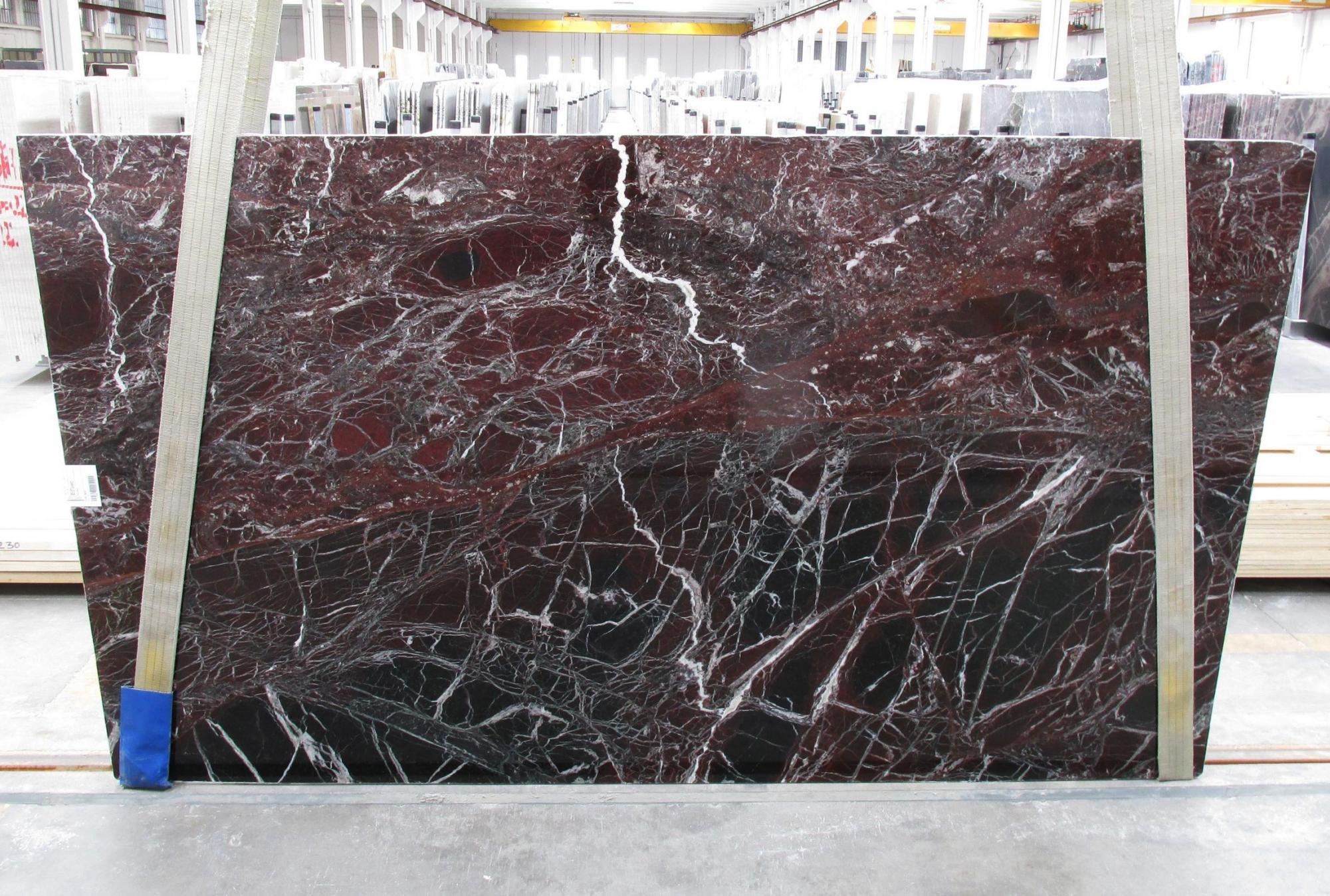 ROSSO LEVANTO Fornitura Veneto (Italia) di lastre grezze lucide in marmo naturale 1712M , Slab #10