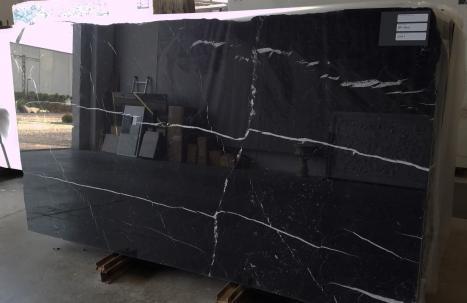 NERO MARQUINA 20 lastre grezze marmo spagnolo lucido SL2CM,  287 x 150 x 2 cm pietra naturale (disponibili in Veneto, Italia)