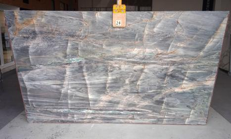 BRITA BLUElastra grezza quarzite brasiliana lucida Slab #24,  122 x 76 x 2 cm pietra naturale (disponibile in Veneto, Italia)