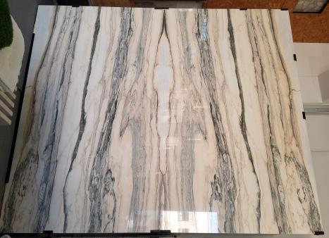 CALACATTA SAINT TROPEZlastra grezza marmo portoghese lucido Slab #67,  315 x 176 x 2 cm pietra naturale (disponibile in Veneto, Italia)