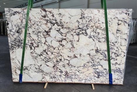 CALACATTA VIOLAlastra grezza marmo italiano lucido Slab #08-3,  299 x 190 x 3 cm pietra naturale (venduta in Veneto, Italia)