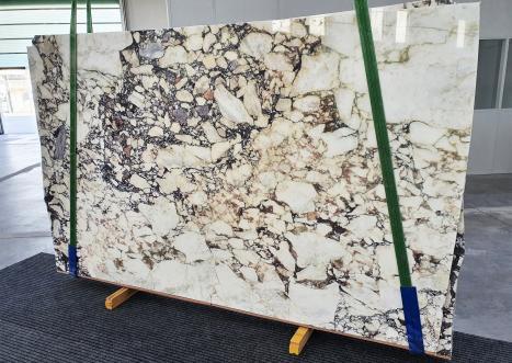CALACATTA VIOLAlastra grezza marmo italiano lucido Bnd02-Slb116,  293 x 180 x 2 cm pietra naturale (venduta in Veneto, Italia)