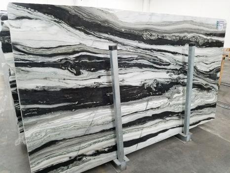 PANDA GREY 26 lastre grezze marmo pachistano lucido SL2CM,  310 x 170 x 2 cm pietra naturale (disponibili in Veneto, Italia)