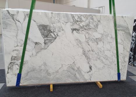 CALACATTA VAGLIlastra grezza marmo italiano lucido Slab #40,  315 x 177 x 2 cm pietra naturale (venduta in Veneto, Italia)