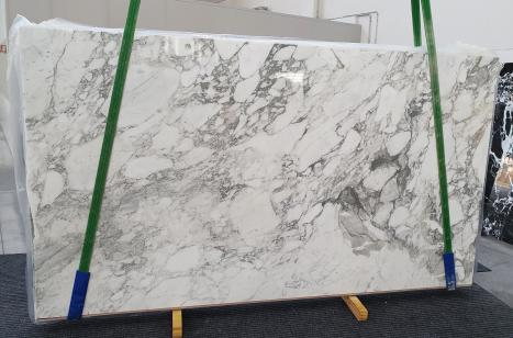 CALACATTA VAGLIlastra grezza marmo italiano lucido Slab #01,  315 x 177 x 2 cm pietra naturale (disponibile in Veneto, Italia)