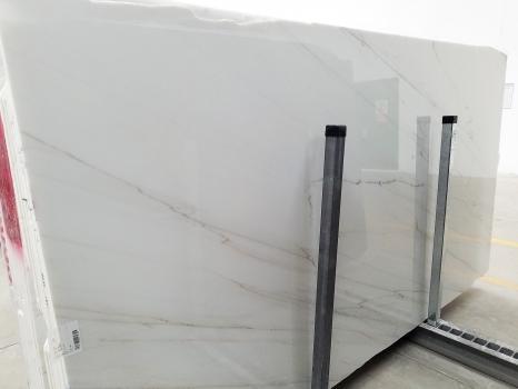 CALACATTA LINCOLN GOLD VEIN 29 lastre grezze marmo italiano lucido SL2,  325 x 173 x 2 cm pietra naturale (disponibili in Veneto, Italia)