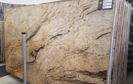 TEMPEST CRISTALLO 39 lastre grezze quarzite brasiliana lucida SL2CM,  326 x 194 x 2 cm pietra naturale (disponibili in Veneto, Italia)