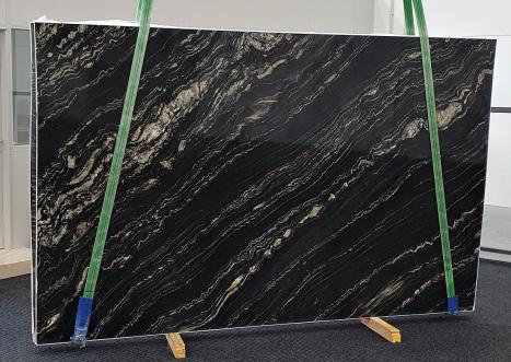 TROPICAL STORMlastra grezza quarzite della Namibia lucida Slab #02,  310 x 198 x 3 cm pietra naturale (disponibile in Veneto, Italia)