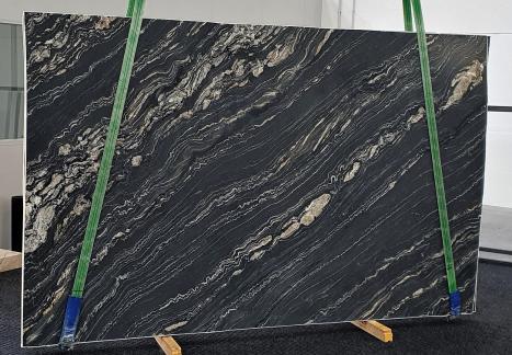TROPICAL STORMlastra grezza quarzite della Namibia levigata Slab #14,  310 x 198 x 3 cm pietra naturale (disponibile in Veneto, Italia)