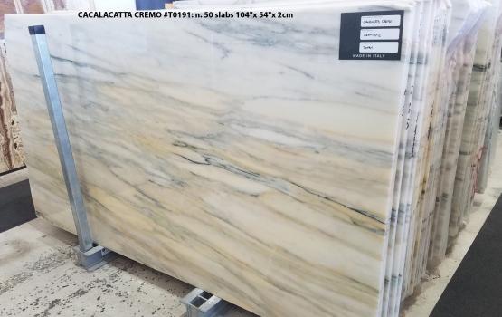 CALACATTA CREMO 50 lastre grezze marmo turco lucido 264.2 x 137.2 x 2 cm pietra naturale (disponibili in Veneto, Italia)