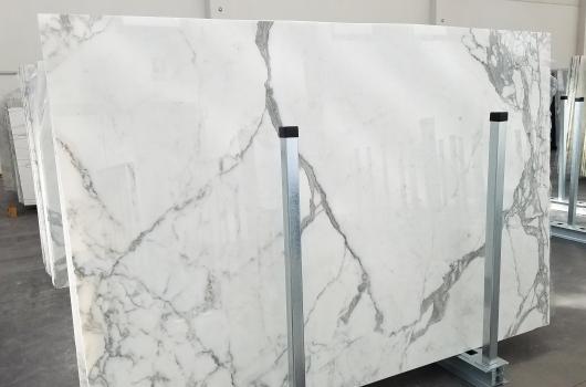 STATUARIO VENATO 8 lastre grezze marmo italiano lucido Bundle #5,  265 x 178 x 2 cm pietra naturale (disponibili in Veneto, Italia)
