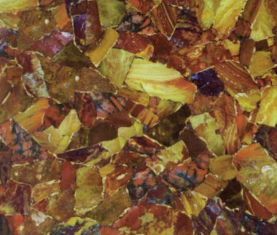 Scheda tecnica: RED JASPER with Gold, pietra semipreziosa naturale lucida americana